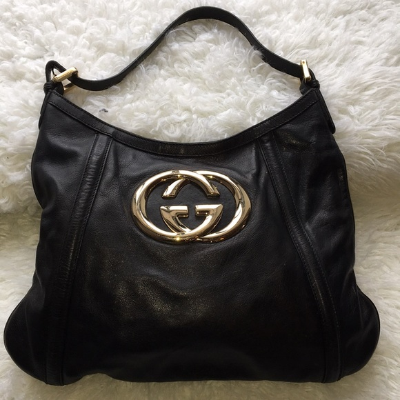 3a9ad28235be Gucci Bags | Authentic Britt Black Hobo Handbag | Poshmark